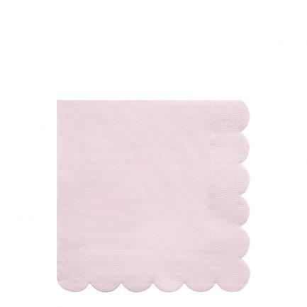 Serviettes en papier, rose, Meri Meri