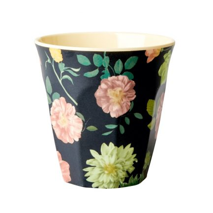 Gobelet, Roses (fond noir), Rice