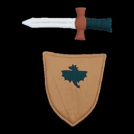 Épée et bouclier de chevalier en tissu, Fabelab