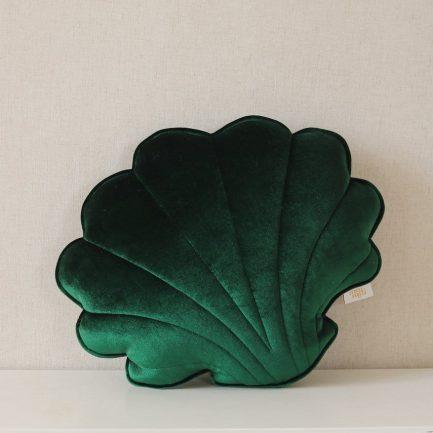 Coussin coquillage, Vert émeraude, Moi Mili