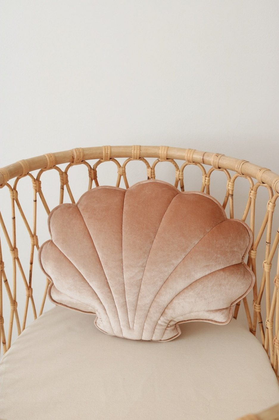 Coussin coquillage, Beige perle, Moi Mili