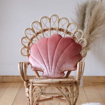 Coussin coquillage, Rose marsala, Moi Mili
