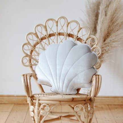Coussin coquillage, White pearl, Moi Mili