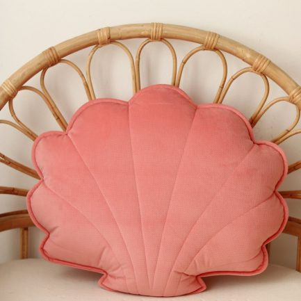 Coussin coquillage, Candy pink, Moi Mili
