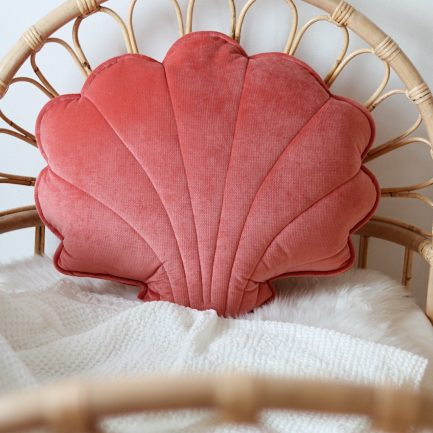 Coussin coquillage, Corail, Moi Mili (grand)