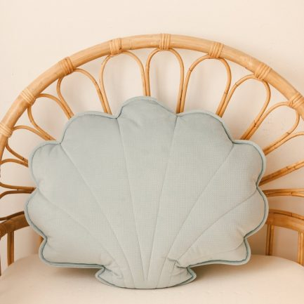 Coussin coquillage, Powder mint, Moi Mili (grand)