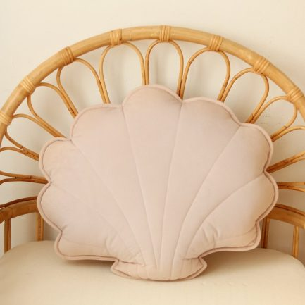 Coussin coquillage, Powder pink, Moi Mili (grand)